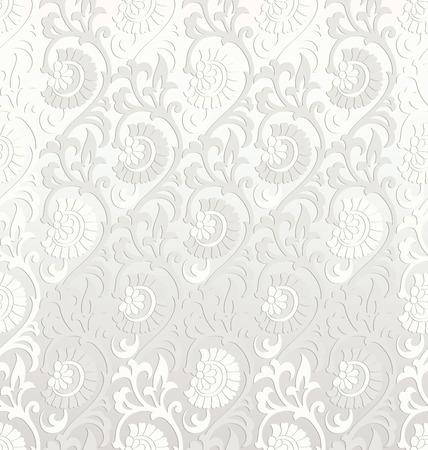 mustered: Fantas�a de papel tapiz floral sin fisuras Vectores