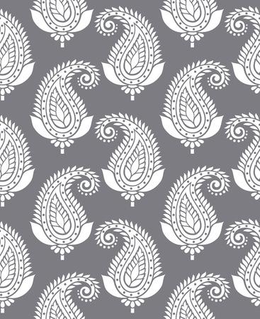 Seamless paisley for textile design Illustration