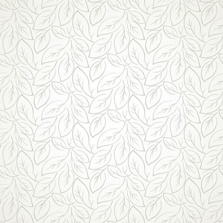 mustered: Seamless leaves wallpaper Illustration