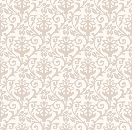 mustered: Damask seamless flower background