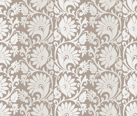 mustered: Seamless rich flower wallpaper