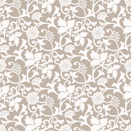 mustered: Floral seamless designer background Illustration