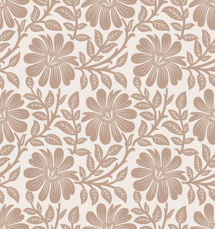 mustered: Background of seamless flower