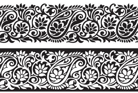 Nahtloser Paisley-Grenze Illustration