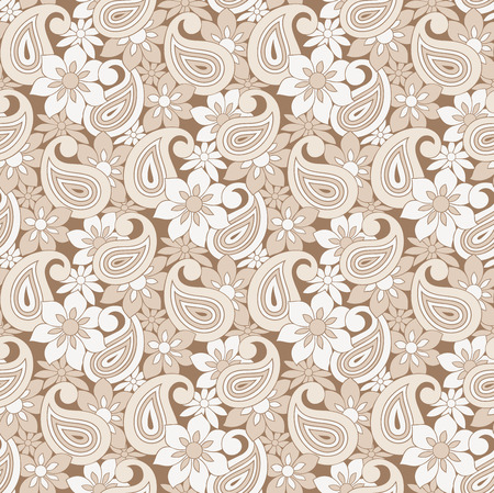 mustered: Paisley seamless wallpaper