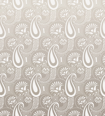 mustered: Paisley seamless background design