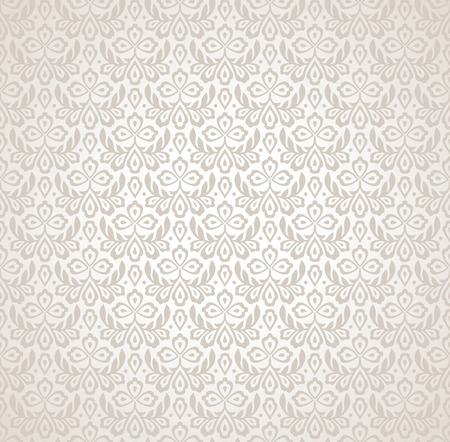 mustered: Flower vector seamless wallpaper