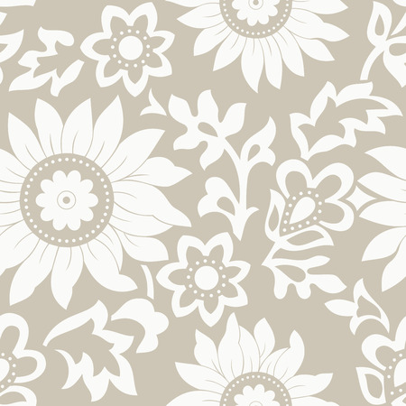 mustered: Fondo floral sin fisuras