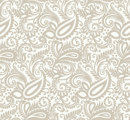 Seamless paisley background Stock Vector - 27250790