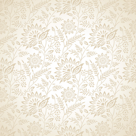 mustered: Seamless floral vector wallpaper