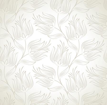 mustered: Papel tapiz floral sin fisuras