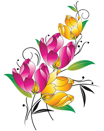 Fancy floral bunch Vector