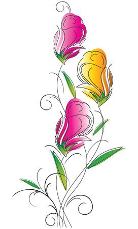 Fancy flower design Vector