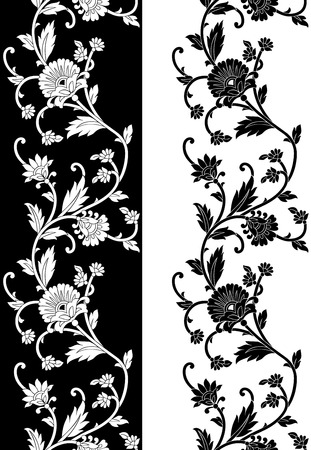 Seamless vector floral border Vector