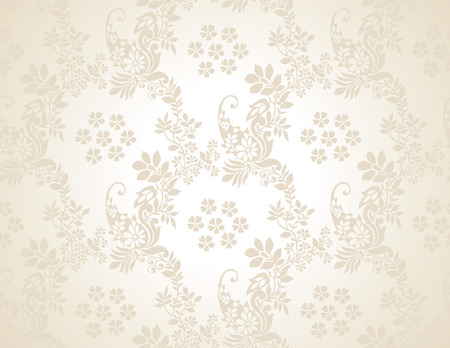 mustered: Paisley seamless golden background Illustration