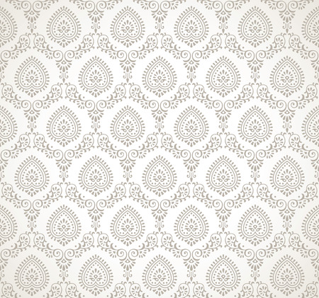 damask wallpaper: Vector seamless traditional wallpaper
