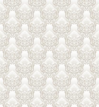 mustered: Damask vector floral wallpaper Illustration