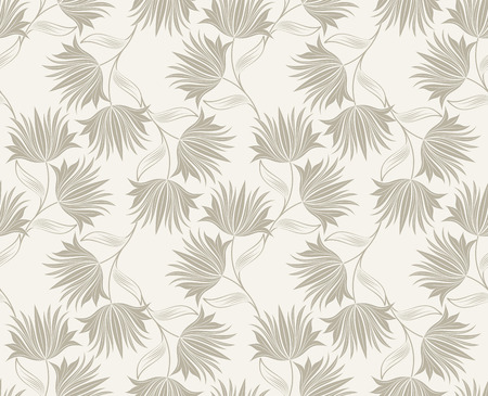 mustered: Seamless fancy floral wallpaper design