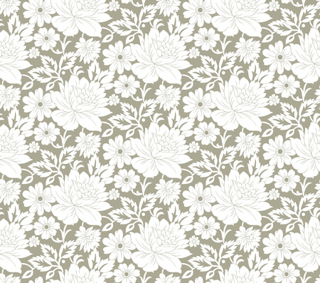 Floral seamless fancy wallpaper Vector