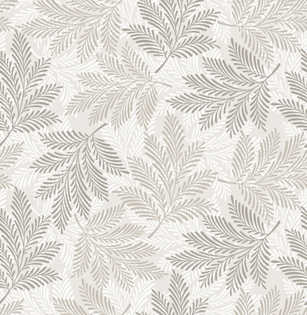 Seamless designer leaves background Vector