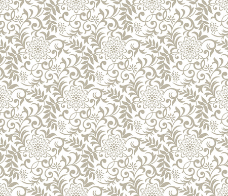 mustered: Seamless fancy floral background