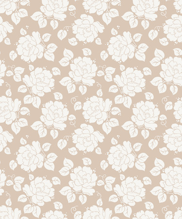 mustered: Fancy seamless floral background Illustration