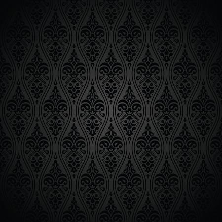 papier peint noir: Transparente royal noir papier peint Illustration