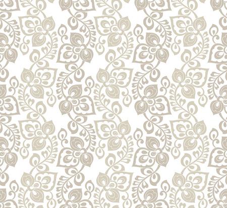 laminated: Seamless fancy flower wallpaper
