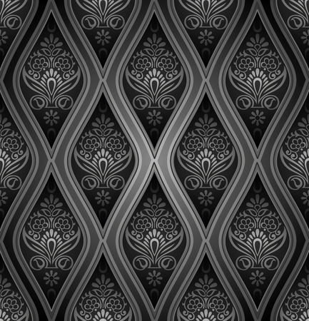 Royal damask seamless wallpaper Vector