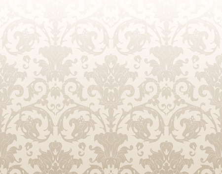 mustered: Damask traditional wallpaper