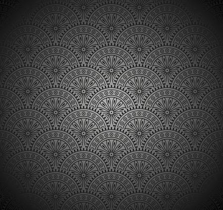 papier peint noir: Royale Noir Seamless Wallpaper Illustration