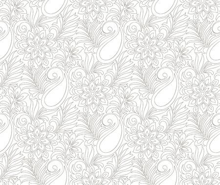 mustered: Seamless paisley tarjeta de boda