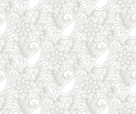 mustered: Seamless paisley wedding card background