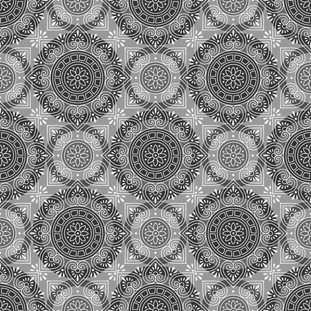 ornaments vector: Vector seamless wallpaper