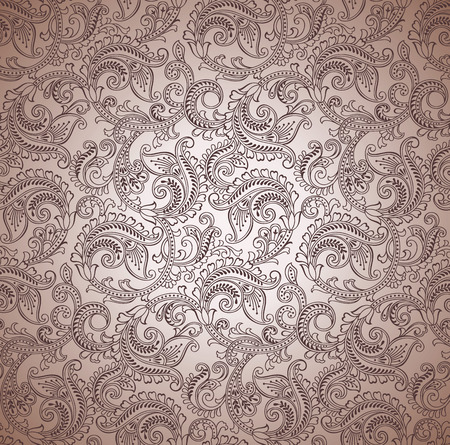 Paisley seamless vector background Vector