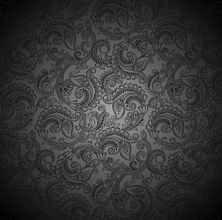 Luxurious seamless paisley wallpaper 矢量图像
