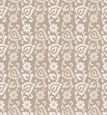 mustered: Seamless flower background Illustration