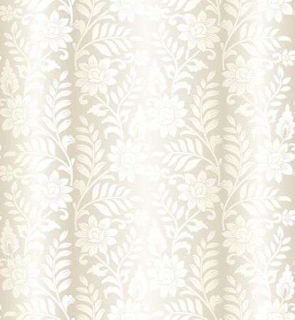 Floral vector seamless background