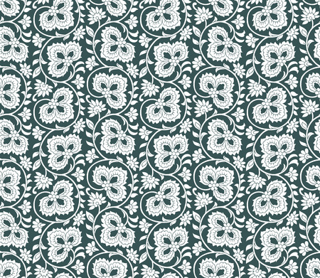 laminated: Rich seamless floral wallpaper