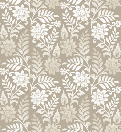 Seamless golden floral background Vector