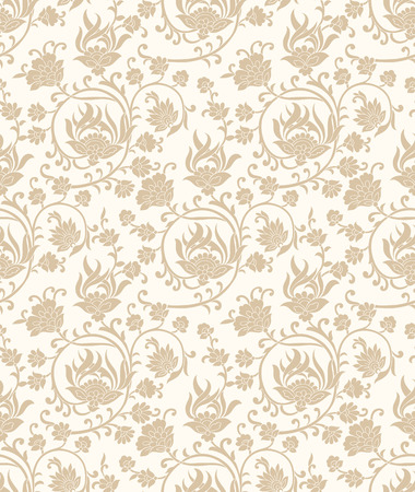 mustered: Fancy seamless vector floral wallpaper