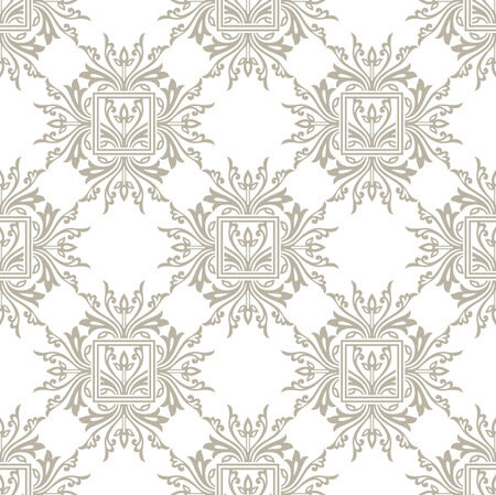 mustered: Damask seamless floral wallpaper Illustration