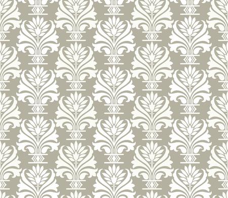 mustered: Damask seamless pattern