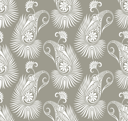 Paisley seamless fancy background Vector