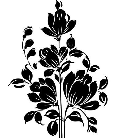Fancy elemento de diseño floral