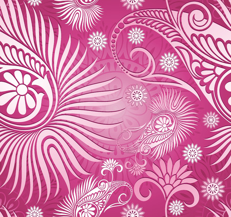 Seamless paisley background Vector