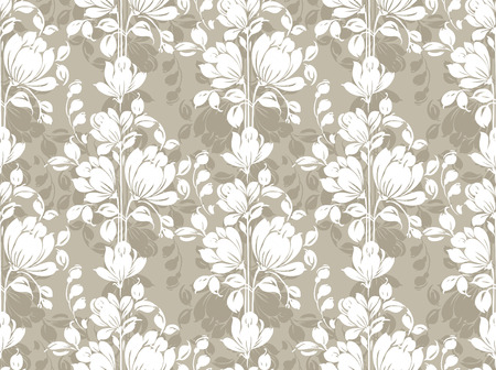 Seamless floral wallpaper Vector