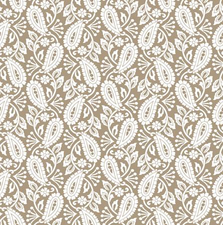 laminated: Paisley seamless background Illustration