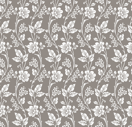 mustered: Seamless floral wallpaper