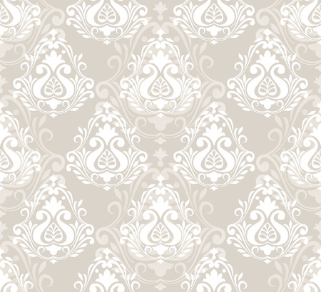 mustered: Damask seamless floral pattern